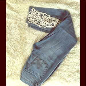 GRAY Laced blue skinny jeans 👖